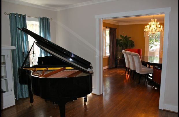 Grand Piano in formal livingroom